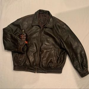 Bostonian genuine leather bomber jacket